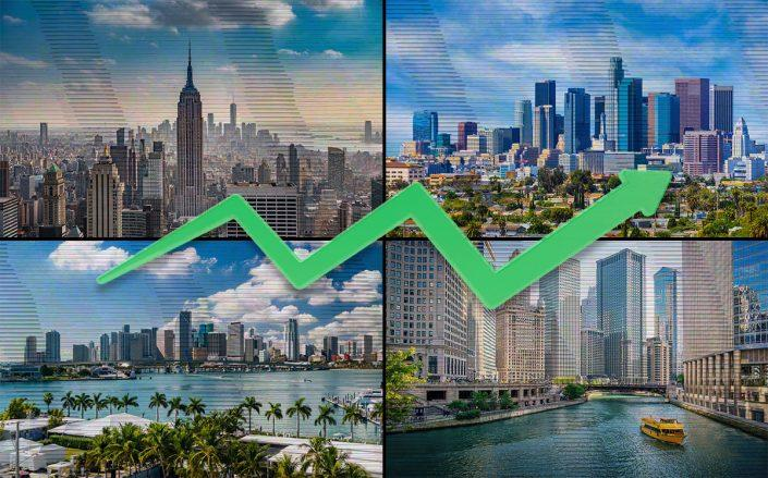 New York, Los Angeles, Chicago, and Miami (Credit: iStock)