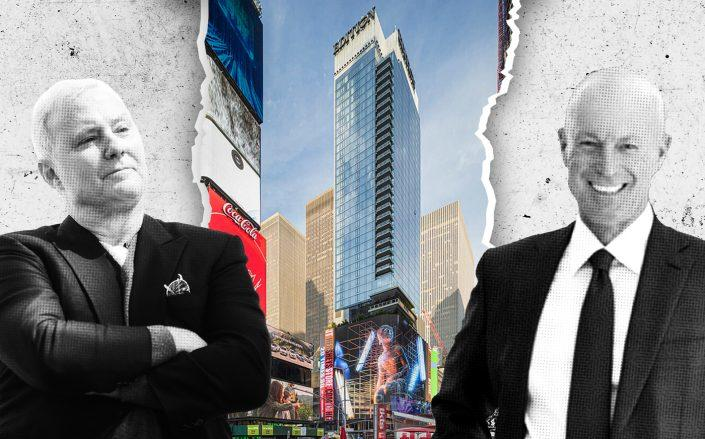 Ian Schrager, 20 Times Square and Maefield Development's Mark Siffin (Credit: Getty, PBDW Architects)
