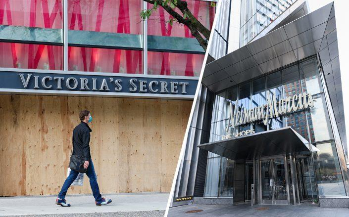Victoria's Secret's parent company has canceled its deal with private equity firm Sycamore Partners, while Neiman Marcus is nearing a restructuring deal with a Pimco-led group. (Andrew Chin/Getty Images; Noam Galai/Getty Images)