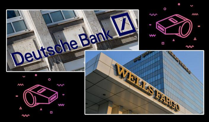 Some of the world's biggest banks — including Wells Fargo and Deutsche Bank — have engaged in a systematic fraud that allowed them to award borrowers bigger loans than were supported by their true financials (Credit: Alex Gottschalk/DeFodi Images; MANJUNATH KIRAN/AFP via Getty Images)