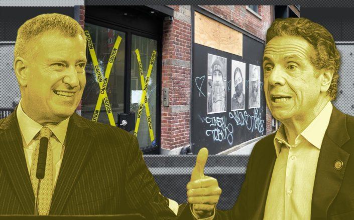 Mayor Bill de Blasio and Gov. Andrew Cuomo (Getty, Paul Dilakian)