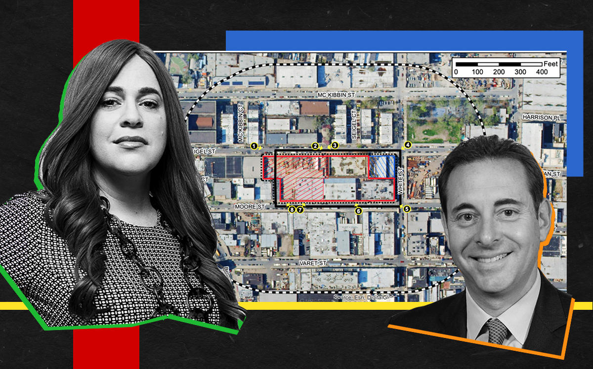 Toby Moskovits, Fortress managing director Spencer Garfield and the 215 Moore Street Site (Moskovits bySasha Maslov)