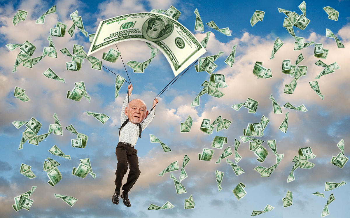 Photo illustration of Sam Zell (Getty, iStock)