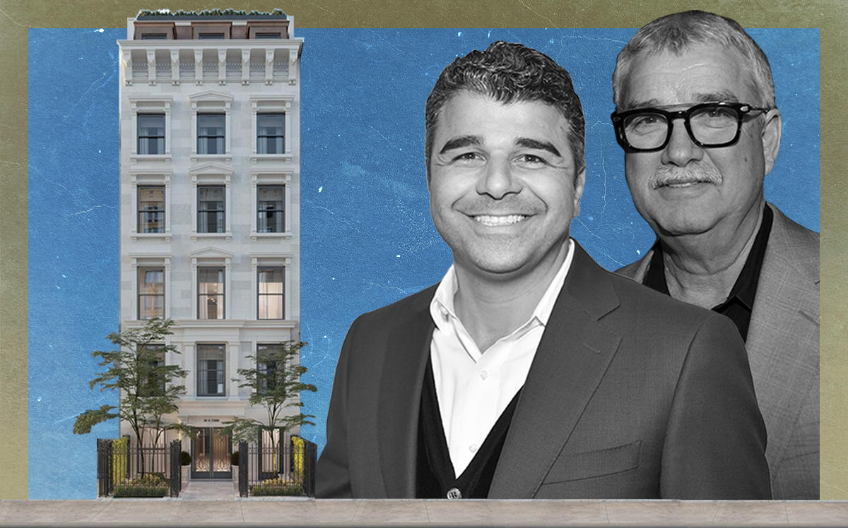 Ilan Bracha, Haim Binstock and 39 East 72nd Street (Getty, Elliman)