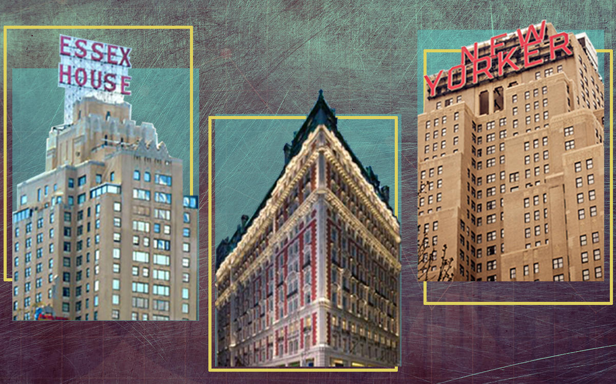 Marriott Essex House, Knickerbocker Hotel and the New Yorker Hotel