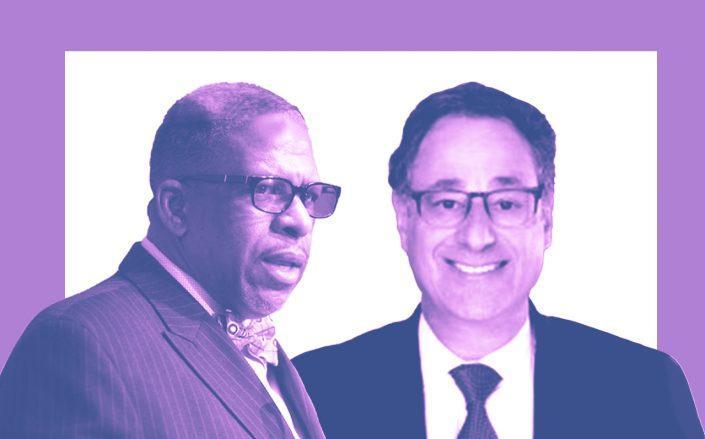 32BJ President Kyle Bragg and RAB president Howard Rothschild (32BJ SEIU)
