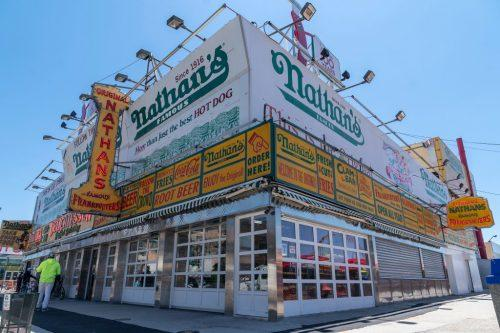 Nathan's Famous restaurant in Coney Island (Getty)