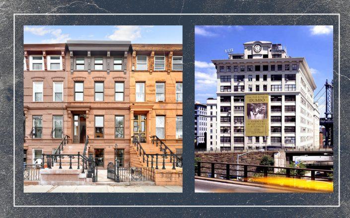 511 Macon Street and 70 Washington Street in Brooklyn (Courtesy Compass; Streeteasy)