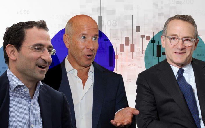 Blackstone's Jonathan Gray, Starwood Capital Group's Barry Sternlicht, and Oaktree Capital co-chairman Howard Marks (Getty)