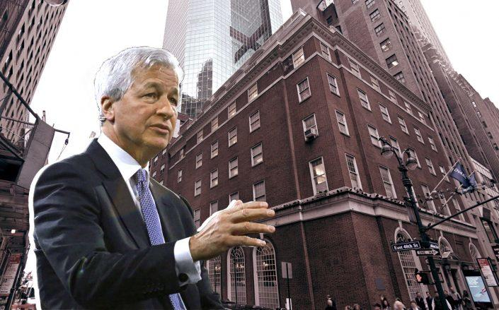 JPMorgan Chase CEO Jamie DImon and 410 Madison Avenue (Getty Images, Google Maps)