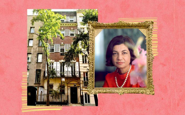 29 Beekman Place and Princess Ashraf Pahlavi (Getty, Courtesy of Zillow)