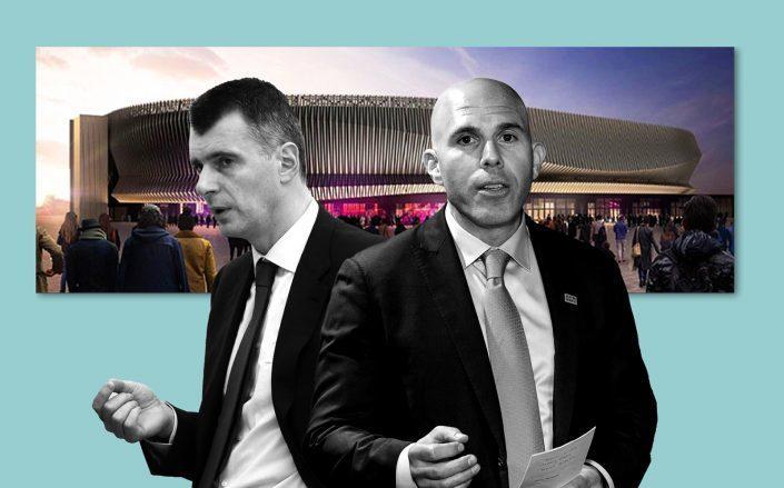 Mikhail Prokhorov and RXR Realty's Scott Rechler (Getty)