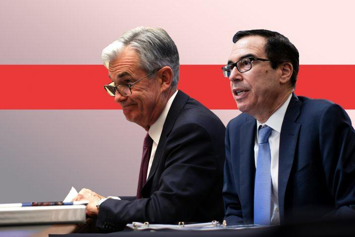 Fed Chairman Jerome Powell and Treasury Secretary Steve Mnuchin (Getty)