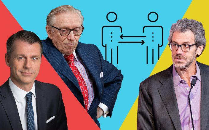 Brookfield Property Partners' Brian Kingston, Silverstein Properties' Larry Silverstein and Empire State Realty Trust's Anthony Malkin (Getty)