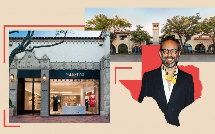 47 Highland Park Village in Dallas, Texas and Valentino CEO Jacopo Venturini (Adam Stewart, Nick Hunt/Patrick McMullan via Getty Images)