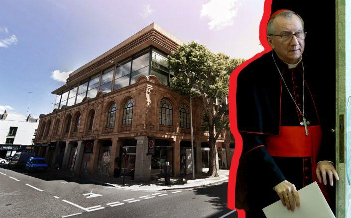 60 Sloane Avenue in London and Cardinal Pietro Parolin (Google Maps, Getty)