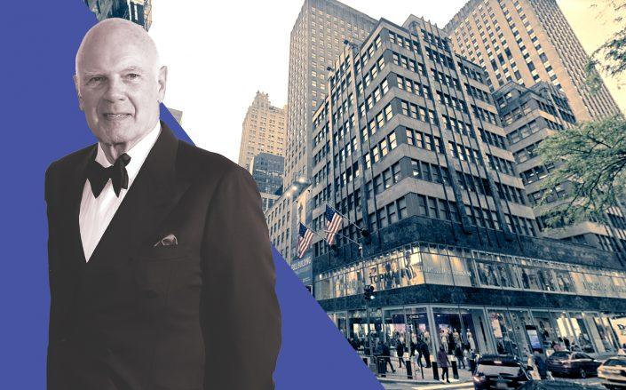 Vornado chairman Steve Roth and 608 Fifth Avenue (Getty, Google Maps)