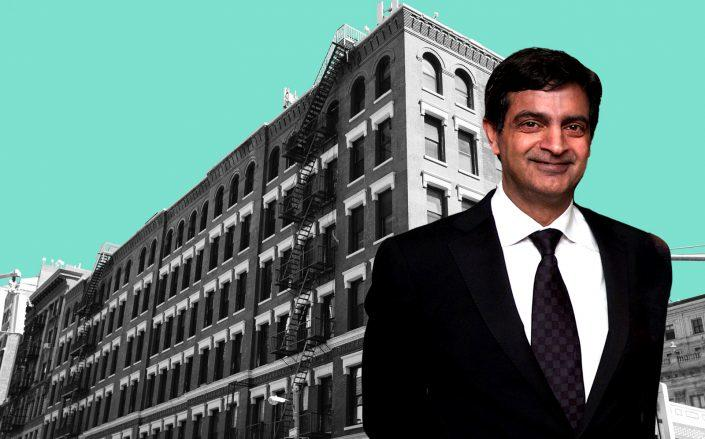 154 Grand Street and WeWork CEO Sandeep Mathrani (WeWork, Getty)
