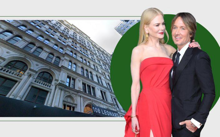 108 Leonard Street with Nicole Kidman and Keith Urban (Google Maps, Getty)