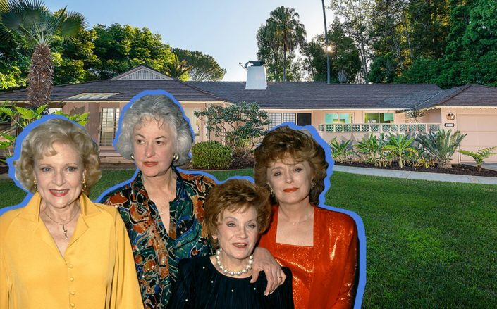 The Golden Girls cast and the mid-century home (Getty, Redfin)