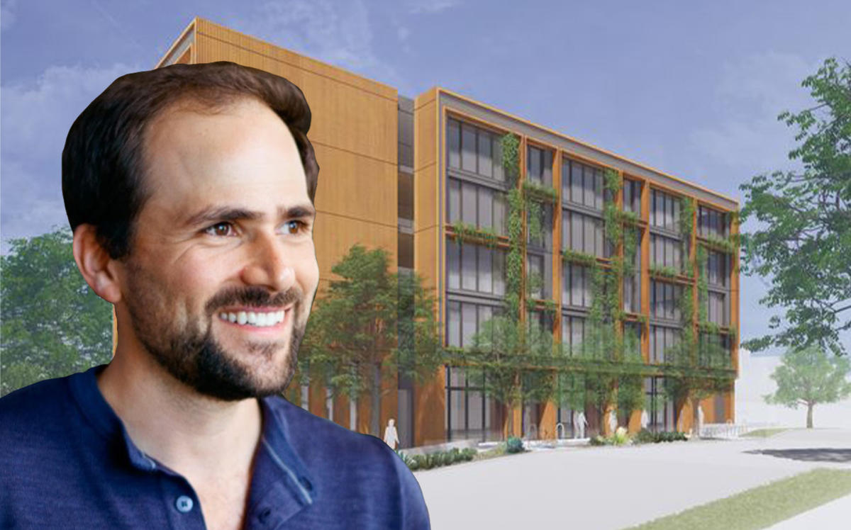 Juno CEO Jonathan Scherr and a rendering of the project