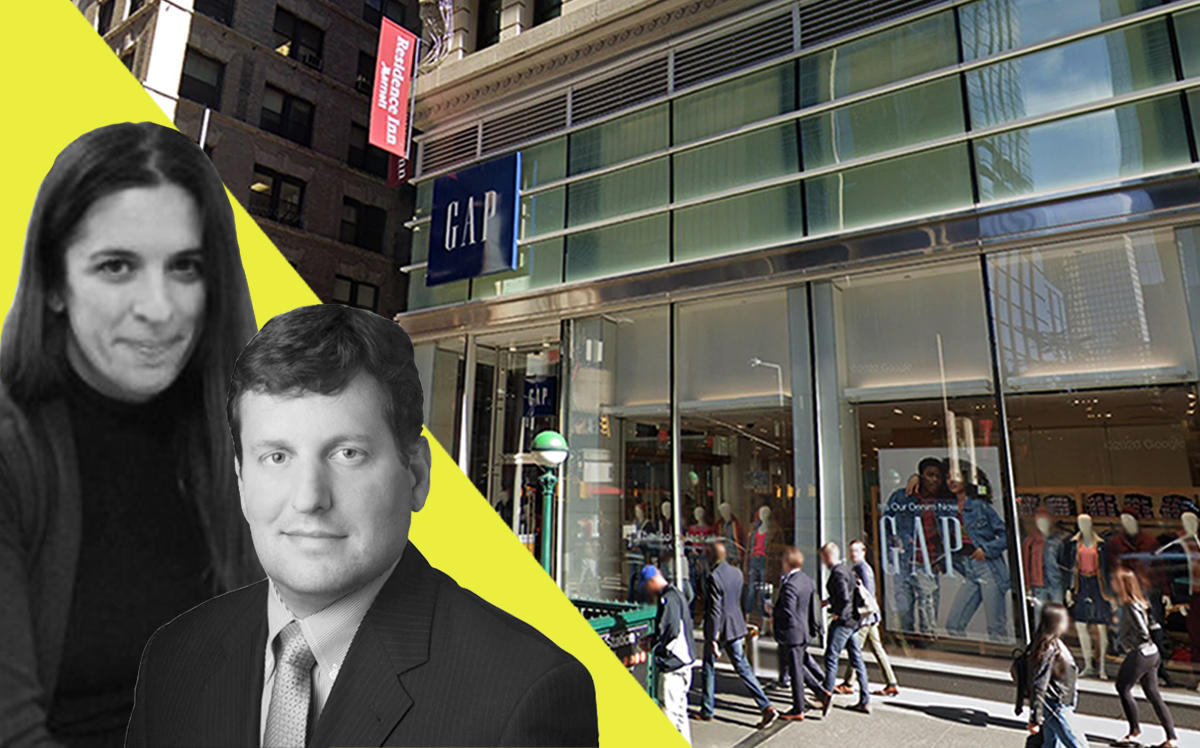 Gap Senior Director of Real Estate Jennifer Rondholz, Morgan Stanley Prime Property Fund head Scott Brown and 170 Broadway (Linkedin, Google Maps)