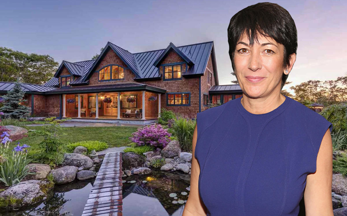Ghislaine Maxwell and her New Hampshire estate (Getty, Greg Bruce Hubbard)