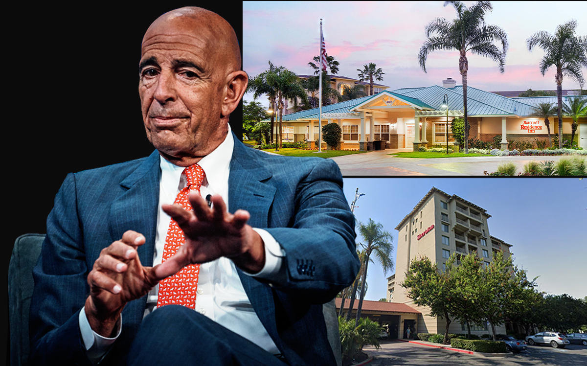 Thomas Barrack, Sheraton San Jose Hotel in Milpitas, CA, Residence Inn Cypress Los Alamitos (Getty, Google Maps, Marriott)