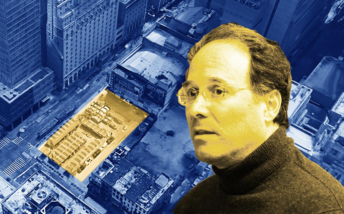 Extell's Gary Barnett and 264 West 46th Street (Google Maps)