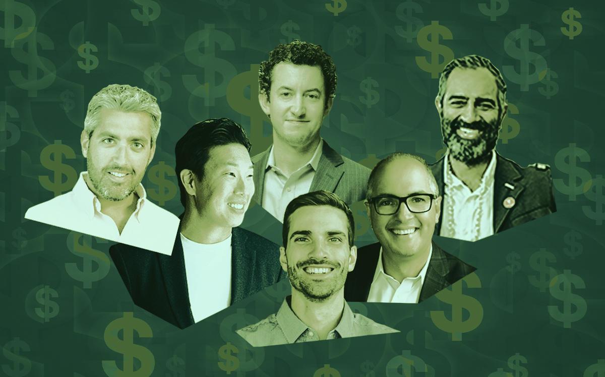 From left: MetaProp's Aaron Block, Domio's Jay Roberts, Homelight's Drew Uher, FrontDesk's Jesse DePinto, Serendipity Labs's John Arenas and Knotel's Amol Sarva (Linkedin, iStock, Sarva by Sasha Maslov)