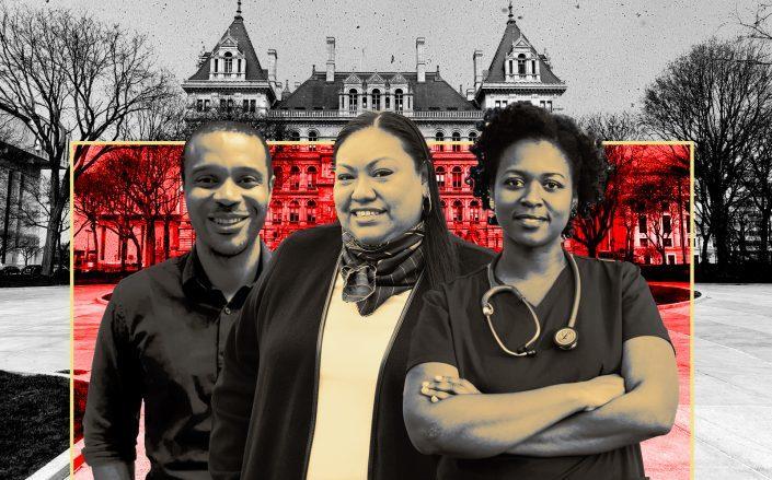 DSA primary winners Jabari Brisport, Marcela Mitaynes, Phara Souffrant Forrest (Getty)