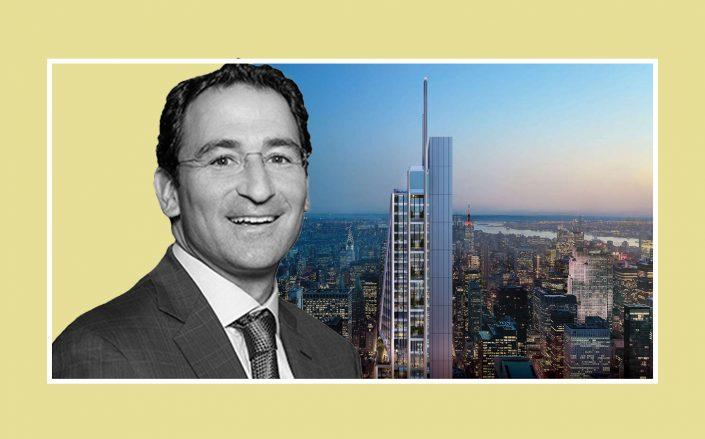 Blackstone's Jonathan Gray and a rendering of 350 Park (Vornado, Blackstone)