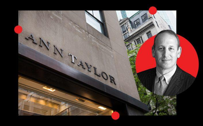 Boston Properties president Doug Linde and an Ann Taylor store (Getty)