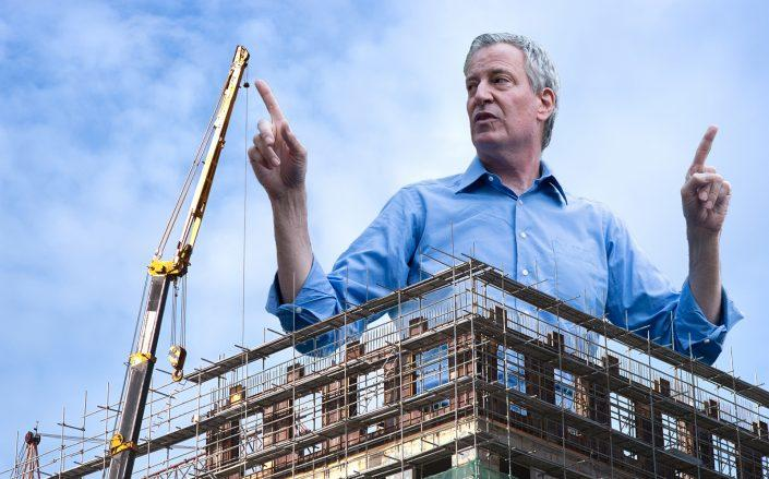 Mayor Bill de Blasio is pushing for a proposal that would severely limit hotel construction throughout the city (Getty, iStock)