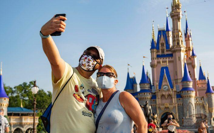 A recent Cowen and Company report projects a 47 percent drop in attendance at Disney-owned parks next year and a 35 percent drop the year after. (Getty)