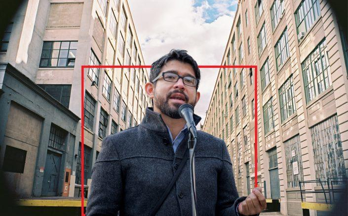 Council member Carlos Menchaca and Industry City (Getty, Wikipedia)