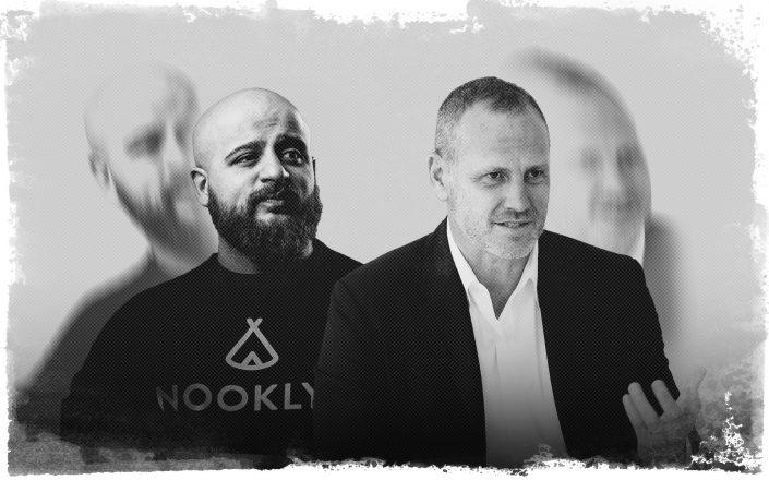 Nooklyn CEO Moiz Malik and CORE CEO Shaun Osher (Nooklyn, Getty)