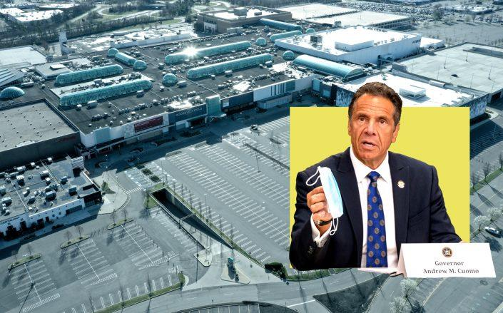 Governor Andrew Cuomo and Roosevelt Field Mall in Long Island (Getty)