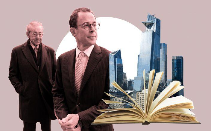 Related's Stephen Ross and Jeff Blau with Hudson Yards (Getty, iStock, Wikipedia Commons)