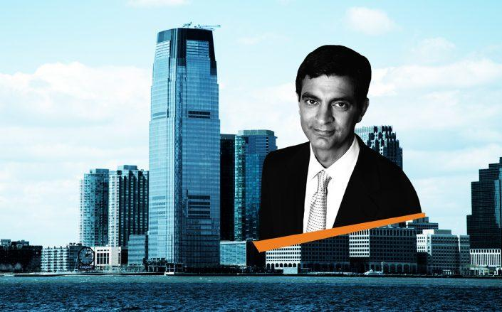 30 Hudson Street in Jersey City and WeWork CEO Sandeep Mathrani (Wikipedia)