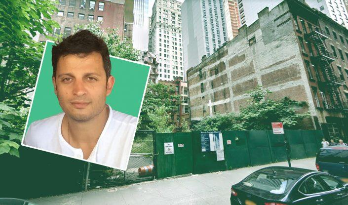 Richard Ohebshalom of Pink Stone Capital and the site at 111 Washington Street (Google Maps)