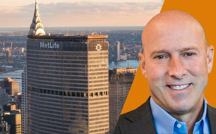 MetLife Building and Matt Van Buren, CBRE's tri-state president (Getty, CBRE)