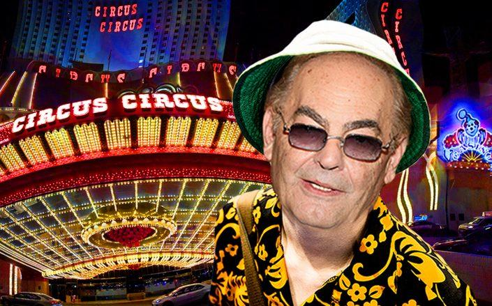 Photo illustration of Phil Ruffin and his Circus Circus Hotel & Casino in Las Vegas (Ollie Millington/Getty, Ethan Miller/Getty, Joan Slatkin/Education Images/Universal Images Group/Getty, iStock)