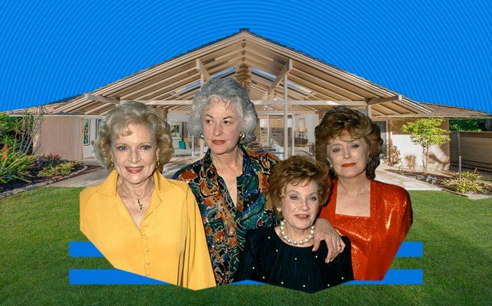 The Golden Girls cast and the Brentwood home (Getty, Realtor)