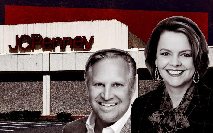 B. Riley Real Estate president Michael Jerbich and  J.C. Penney CEO Jill Soltau (Getty, Linkedin, J.C. Penney)