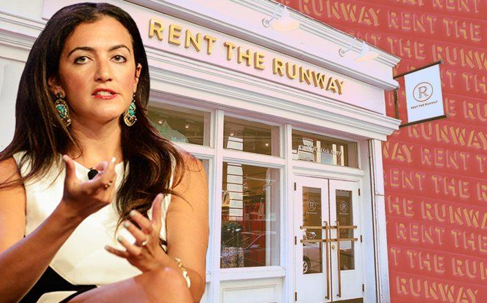 Rent The Runway CEO and co-founder Jennifer Hyman and a store location in New York City (Getty)Rent The Runway CEO and co-founder Jennifer Hyman and a store location in New York City (Getty)