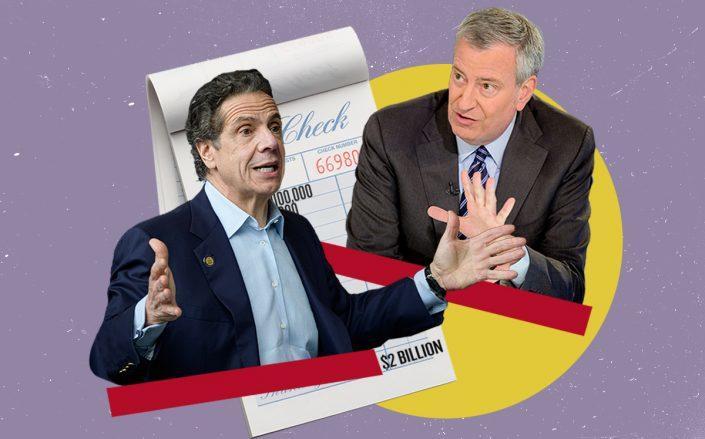 Gov. Andrew Cuomo and Mayor Bill de Blasio (Getty, iStock)