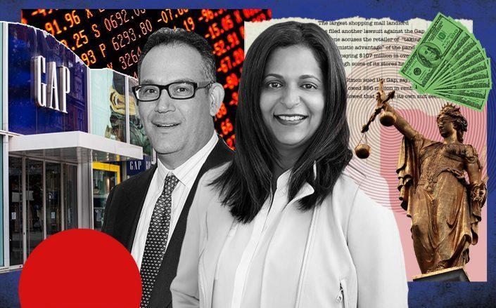 Simon Property Group's David Simon and Gap CEO Sonia Syngal (Getty, Wikipedia, iStock)