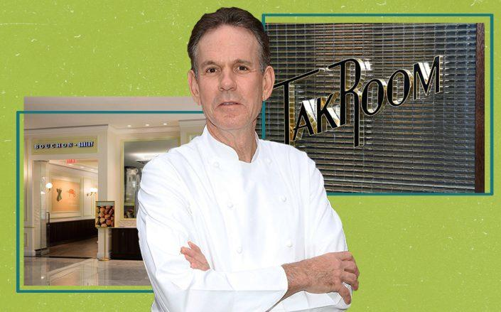 Thomas Keller with Bouchon Bakery and TAK Room in Hudson Yards (Taylor Hill/FilmMagic, Bouchon Bakery by David Escalante via Thomas Keller Restaurant Group;TAK Room by John Lamparski/Getty Images for The Conservatory NYC)