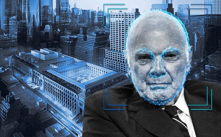 Vornado CEO Steven Roth and a rendering of the Farley Post Office building (Getty, iStock, SOM)